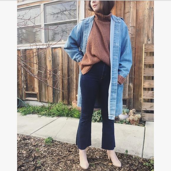 5d6d9cb37 Vintage oversized denim jean chore coat jacket